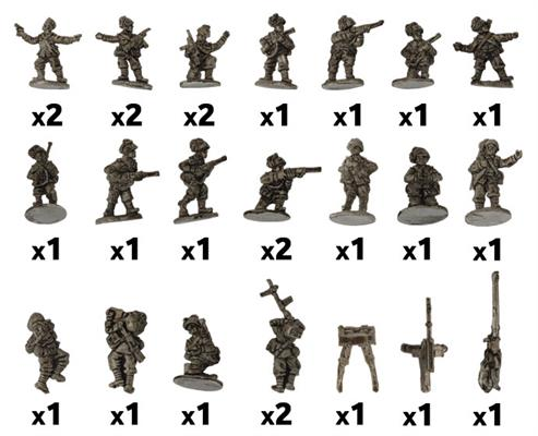 Flames of War: Italian: Weapons Platoon (Bersaglieri)