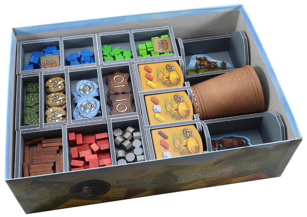 Folded Space: Board Game Organizer- Stone Age (with expansions)