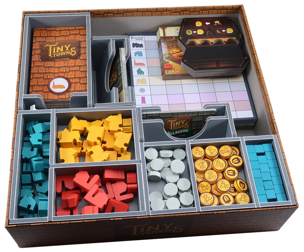 Folded Space: Board Game Organizer- Tiny Towns