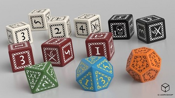 Forbidden Lands: Custom Dice