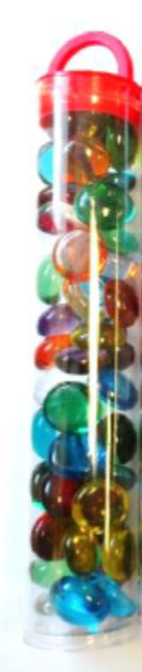 Gaming Stones: Translucent - Mixed Colors Tube (40ct)