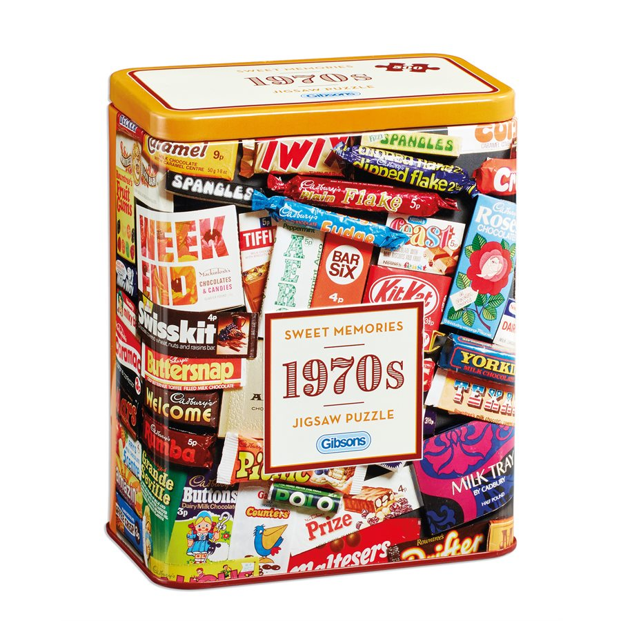 Gibsons Puzzles (500): 1970S Sweet Memories Gift Tin