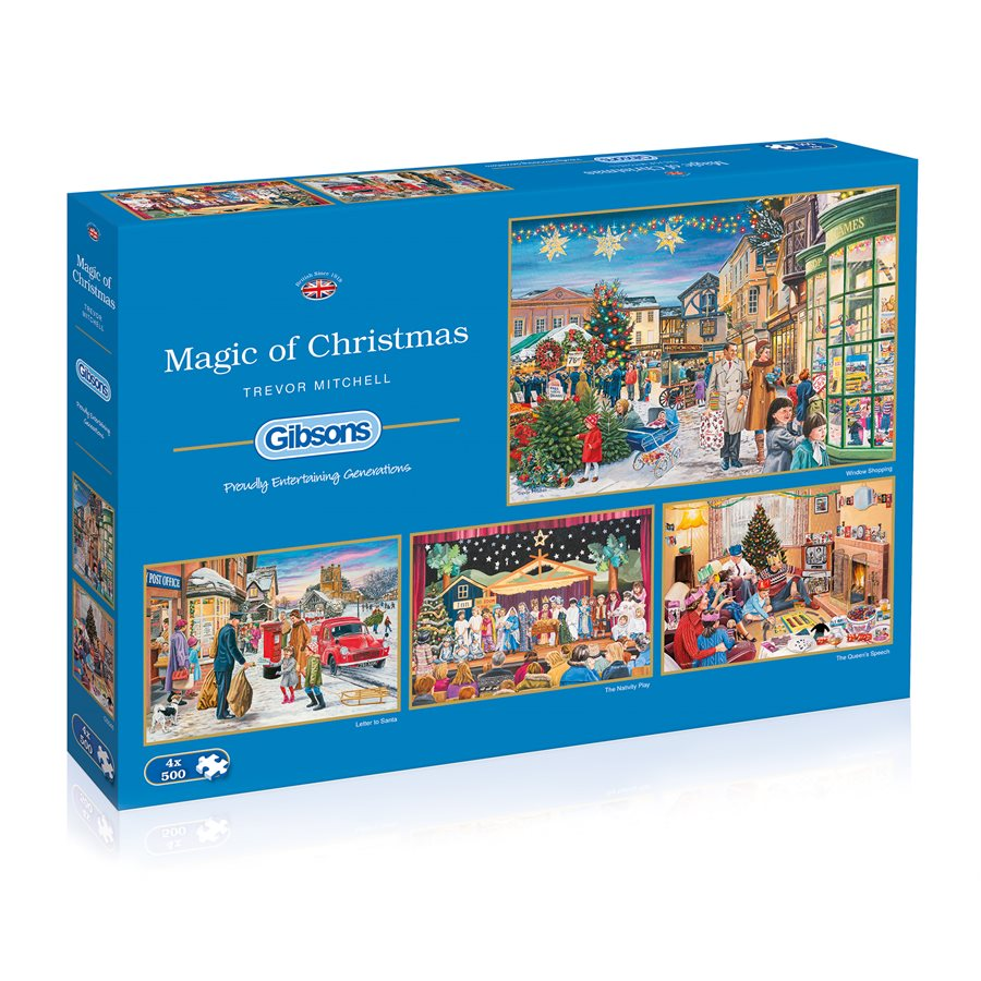 Gibsons Puzzles (500): Magic of Christmas (4 Puzzles) [DAMAGED]