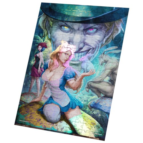 Grimm Fairy Tales Foil Puzzle: Alice in Wonderland