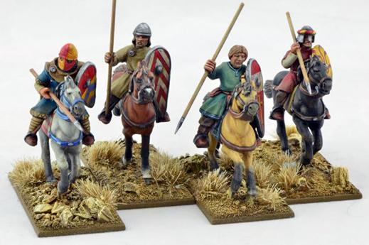 Gripping Beast 28mm Early Crusade: Mounted Sergeants #2 (4)