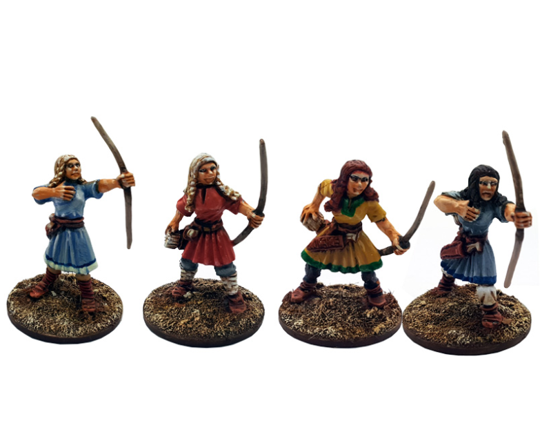 Gripping Beast 28mm Viking Age: Shieldmaiden- Archers (Levy)