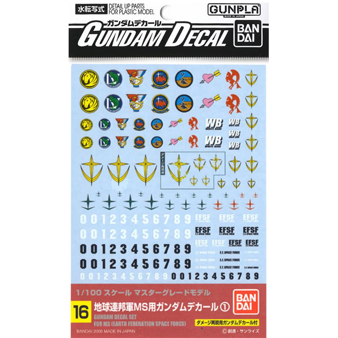 Gundam Decals #16: Earth Federation Space Force
