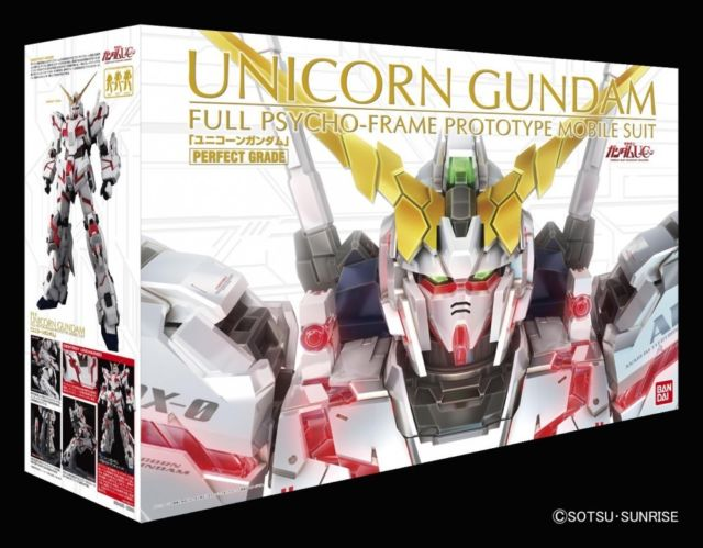 Gundam Perfect Grade: Unicorn Gundam Full Psycho-Frame Prototype Mobile Suite (RX-0)