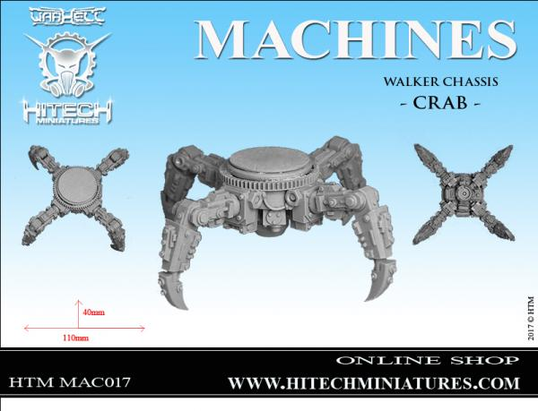 HiTech Miniatures: Walker Chassis CRAB