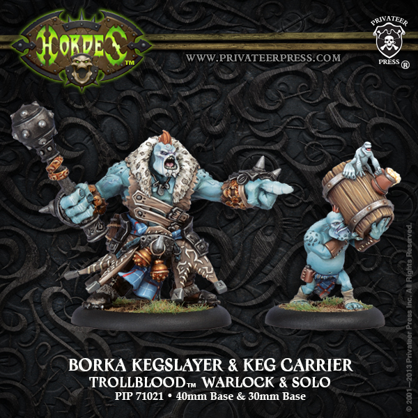 Hordes: Trollbloods (71021): Borka Kegslayer & Keg Carrier