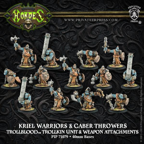 Hordes: Trollbloods (71079): Kriel Warriors & Caber Throwers [SALE]