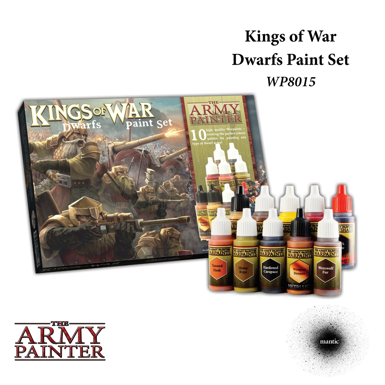 Kings of War: Dwarfs Paint Set