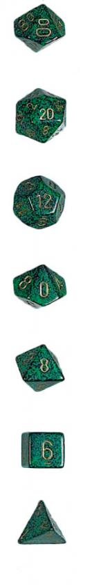 Koplow: 7PC Polyhedral Dice Set: Elemental: Golden Recon