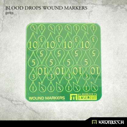 Kromlech Accessories: Acrylic Blood Drops Wound Markers (Green)