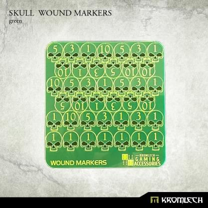 Kromlech Accessories: Acrylic Skull Wound Markers (Green)