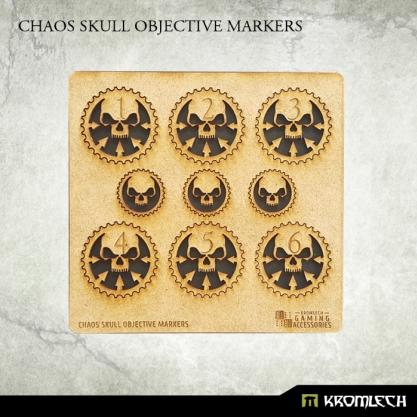 Kromlech Accessories: HDF Chaos Skull Objective Markers