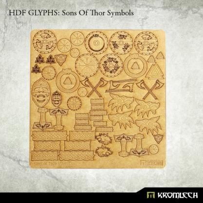 Kromlech Accessories: HDF Glyphs- Sons of Thor Symbols