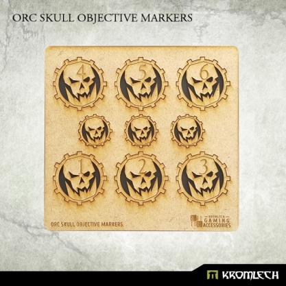 Kromlech Accessories: HDF Orc Skull Objective Markers