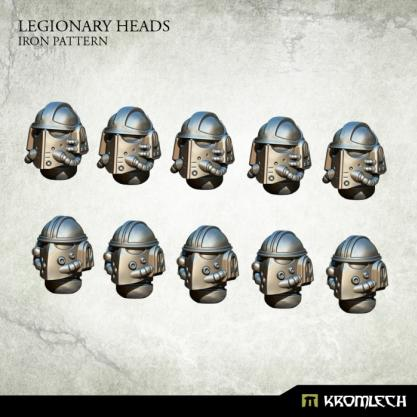 Kromlech Conversion Bitz: Legionary Heads - Iron Pattern (10)