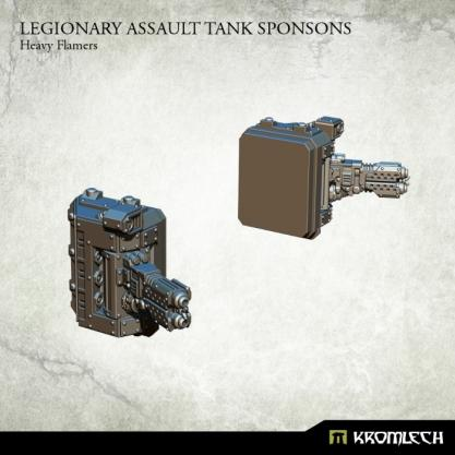 Kromlech Conversion Bitz: Legionary Assault Tank Sponsons - Heavy Flamers (1)