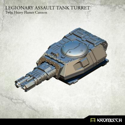 Kromlech Conversion Bitz: Legionary Assault Tank Turret - Twin Heavy Flamer Cannon