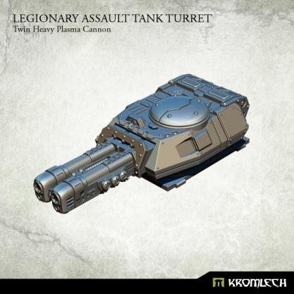 Kromlech Conversion Bitz: Legionary Assault Tank Turret - Twin Heavy Plasma Cannon