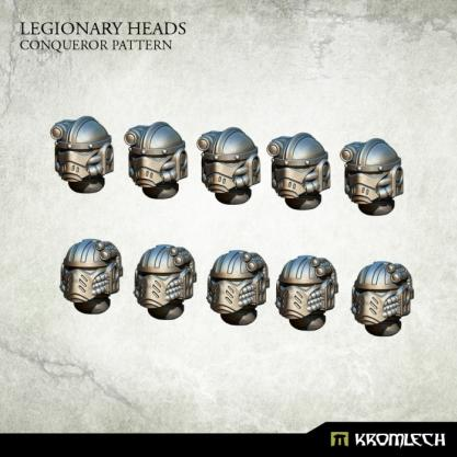Kromlech Conversion Bitz: Legionary Heads - Conqueror Pattern (10)