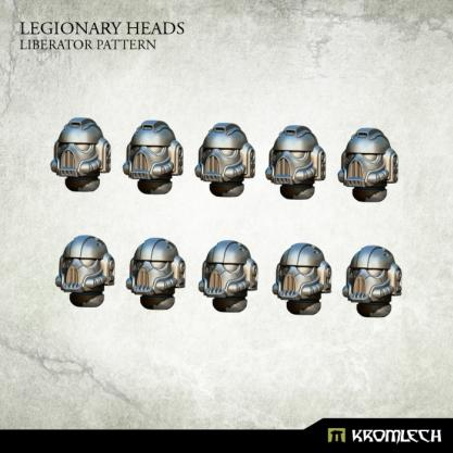 Kromlech Conversion Bitz: Legionary Heads - Liberator Pattern (10)