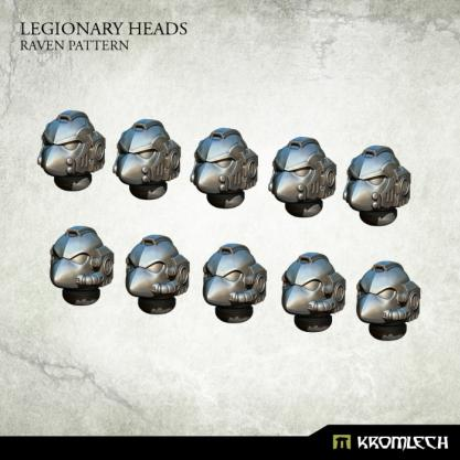 Kromlech Conversion Bitz: Legionary Heads - Raven Pattern (10)