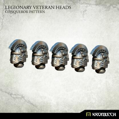 Kromlech Conversion Bitz: Legionary Veteran Heads - Conqueror Pattern (5)