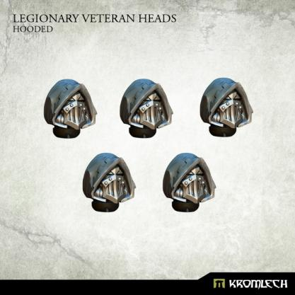 Kromlech Conversion Bitz: Legionary Veteran Heads - Hooded (5)