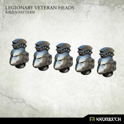 Kromlech Conversion Bitz: Legionary Veteran Heads - Raven Pattern (5)