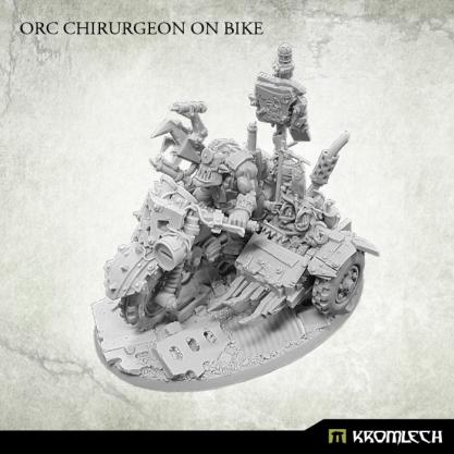 Kromlech Miniatures: Orc Chirurgeon on Bike