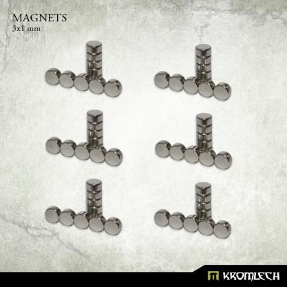 Kromlech Neodymium Disc Magnets: 3x1mm (60)
