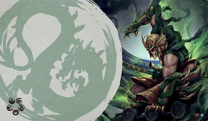 Legend of the Five Rings The Card Game: MASTER OF THE HIGH HOUSE OF LIGHT PLAYMAT