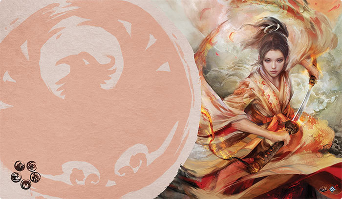 Legend of the Five Rings The Card Game: THE SOUL OF SHIBA PLAYMAT