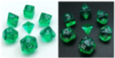 Little Dragon: Mini Dice - Green Translucent