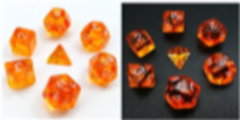 Little Dragon: Mini Dice - Orange Translucent