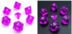 Little Dragon: Mini Dice - Purple Translucent
