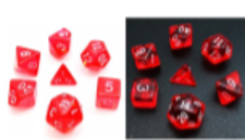 Little Dragon: Mini Dice - Red Translucent