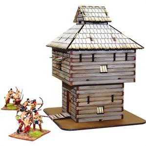 4Ground Miniatures: 28mm American Legends: Log Timber Blockhouse