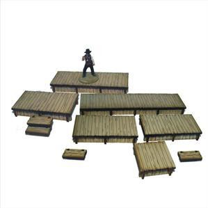 4Ground Miniatures: 28mm Dead Mans Hand: Add-ons: Long Boardwalks