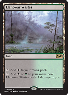 Magic 2015 Core Set 244: Llanowar Wastes