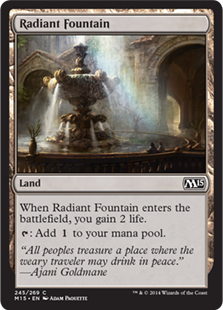Magic 2015 Core Set: 245 Radiant Fountain