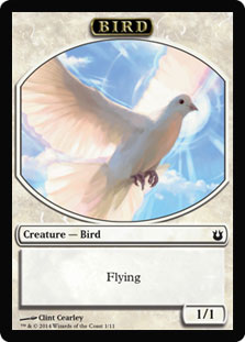 Magic: Born of the Gods Token: Bird 1 1/1