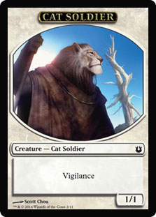 Magic: Born of the Gods Token: Cat Soldier 1/1
