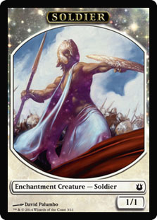 Magic: Born of the Gods Token: Soldier 1/1