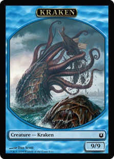 Magic: Born of the Gods Token: Kraken 9/9