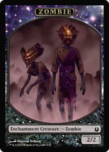 Magic: Born of the Gods Token: Zombie 2/2