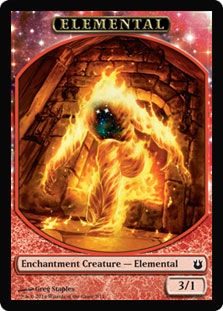 Magic: Born of the Gods Token: Elemental 3/1